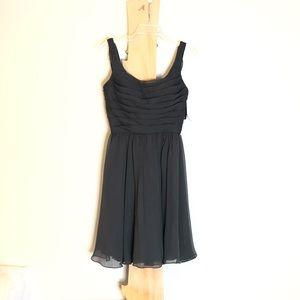 Angelina Faccenda Mori Lee Swing Dress fitted L